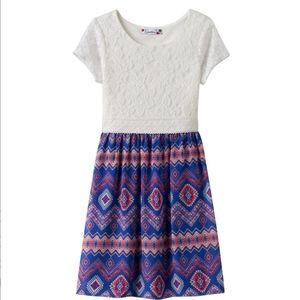 NWT Speechless Lace Geometric Dress